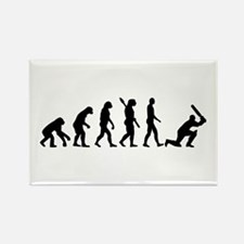 Evolution Cricket Rectangle Magnet