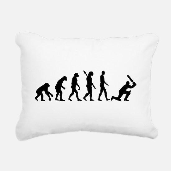 Evolution Cricket Rectangular Canvas Pillow