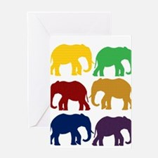 Colorful Elephant pattern Greeting Cards