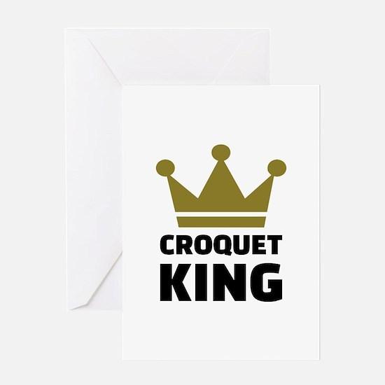 Croquet king champion Greeting Card