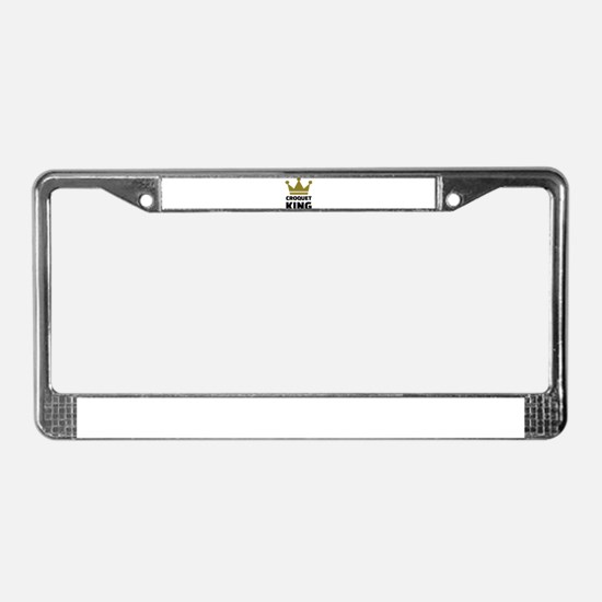Croquet king champion License Plate Frame