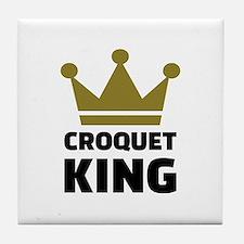 Croquet king champion Tile Coaster
