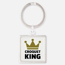Croquet king champion Square Keychain