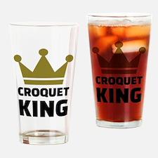 Croquet king champion Drinking Glass