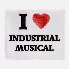 I Love Industrial Musical Throw Blanket