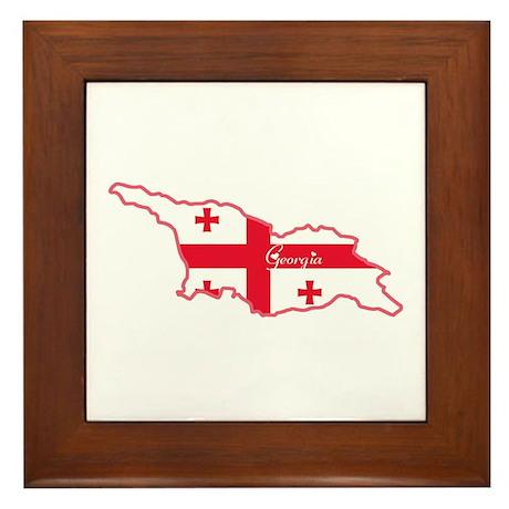 Cool Georgia Framed Tile
