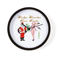 Badge Bunny Christmas Gifts Wall Clock
