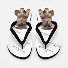 Yorkshire Terrier Graduation Flip Flops