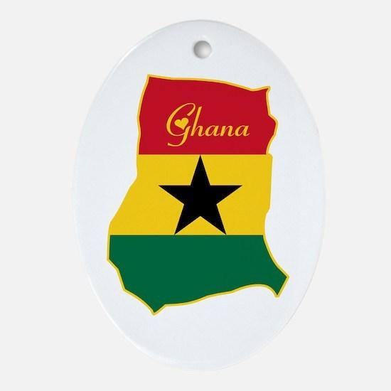 Cool Ghana Oval Ornament