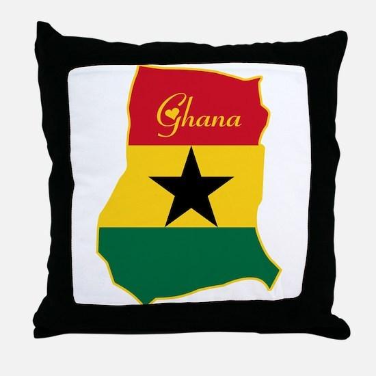 Cool Ghana Throw Pillow