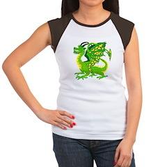 Great Green Dragon Women's Cap Sleeve T-Shirt