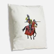 KNIGHT Burlap Throw Pillow