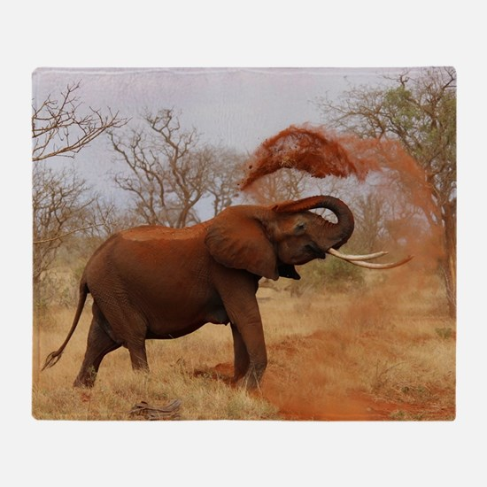Cool Elephant photo Throw Blanket