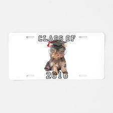Graduatiion Yorkshire Terrier Aluminum License Pla