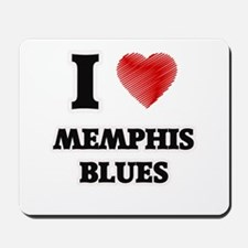 I Love Memphis Blues Mousepad