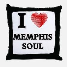 I Love Memphis Soul Throw Pillow