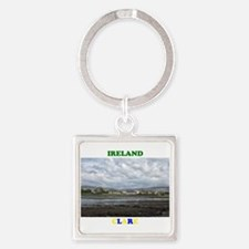 Cottages, Ballyvaughan Square Keychain