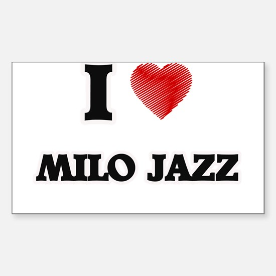 I Love Milo Jazz Decal