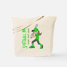 PERSONALIZED SOFTBALL MOM Tote Bag