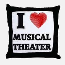 I Love Musical Theater Throw Pillow