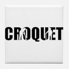 Croquet Tile Coaster
