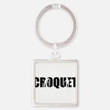 Croquet Square Keychain
