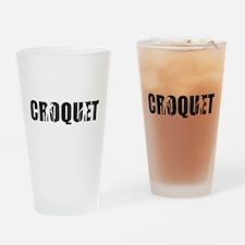 Croquet Drinking Glass