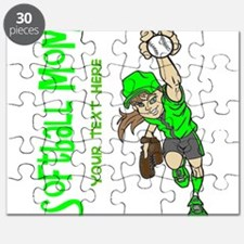PERSONALIZED SOFTBALL MOM Puzzle