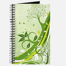 Decorative Green Floral Journal