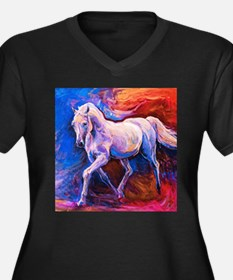 Horse Painting Plus Size T-Shirt