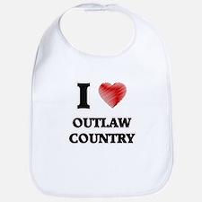 I Love Outlaw Country Bib