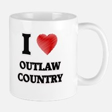 I Love Outlaw Country Mugs