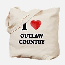 I Love Outlaw Country Tote Bag