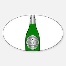 25th Celebration Wine Bottle Decal