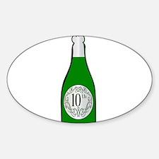 10th Celebration Wine Bottle Decal