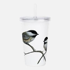 chickadee song birds Acrylic Double-wall Tumbler