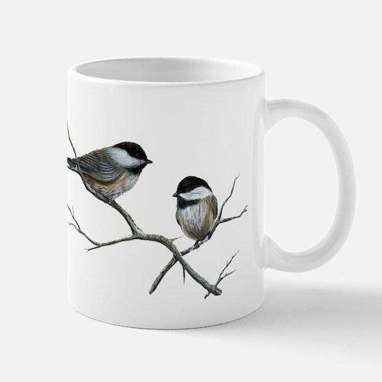 chickadee song birds Mugs