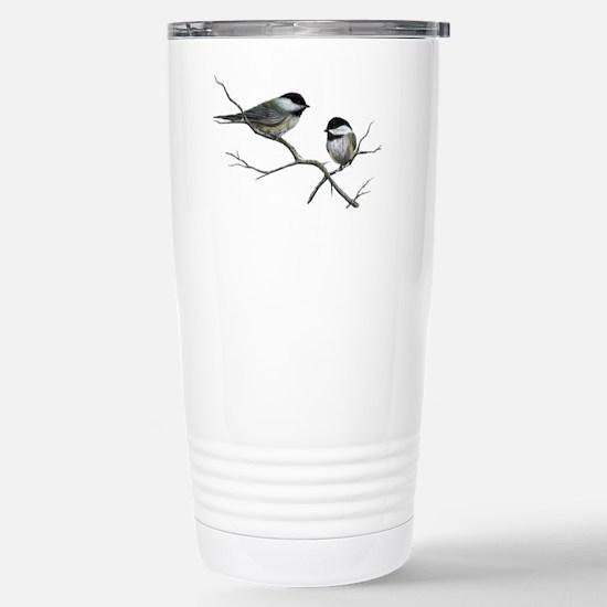 chickadee song birds Stainless Steel Travel Mug