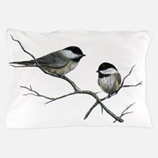 chickadee song birds Pillow Case