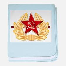 Soviet Cap Badge baby blanket