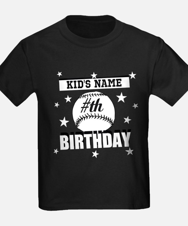 Baseball Birthday Personalized T-Shirt