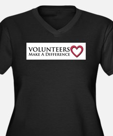 Volunteers Make a Difference Plus Size T-Shirt