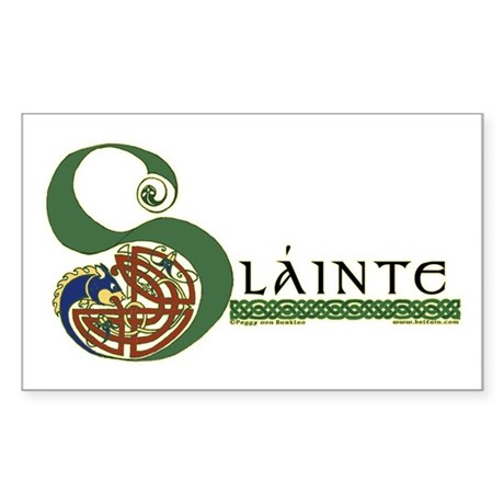 Slainte Celtic Knotwork Rectangle Sticker