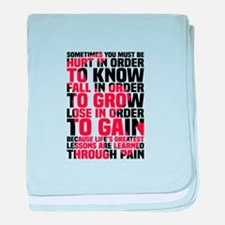Lifting Quote baby blanket