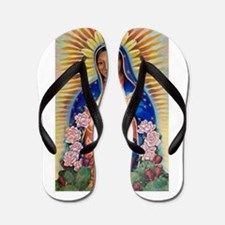 Virgin Mary - Our Lady Of Guadalupe Flip Flops