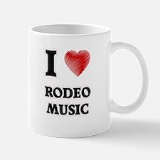 I Love Rodeo Music Mugs