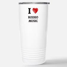 I Love Rodeo Music Travel Mug