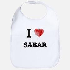 I Love Sabar Bib