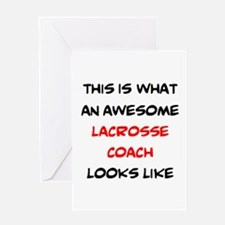 awesome lacrosse coach Greeting Card