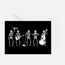 Jazzy Skeleton Quintet Greeting Cards (Pk of 10)